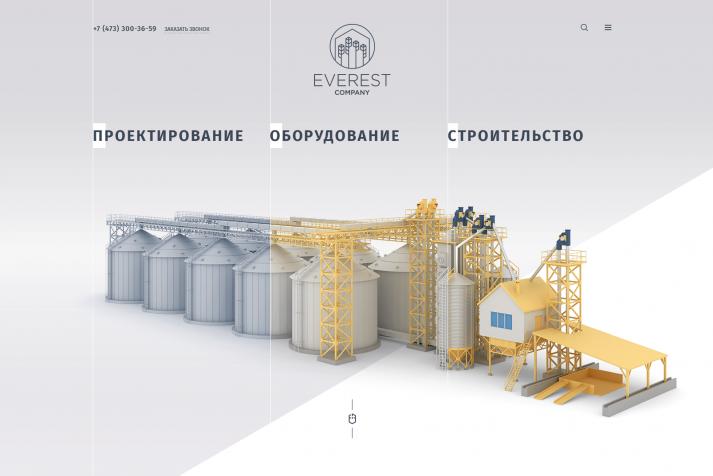 Корпоративный сайт Everest company